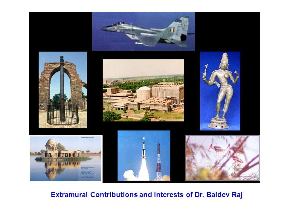 Extramural Contributions and Interests of Dr. Baldev Raj