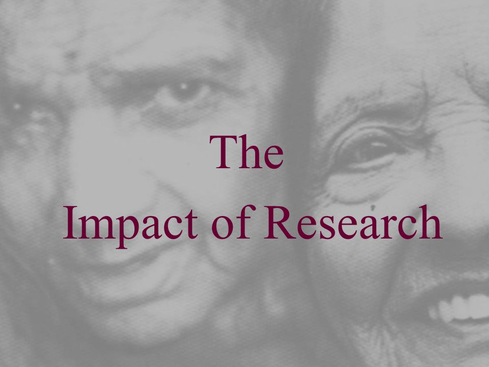 The Impact of Research