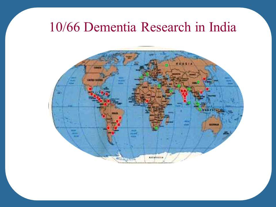 10/66 Dementia Research in India