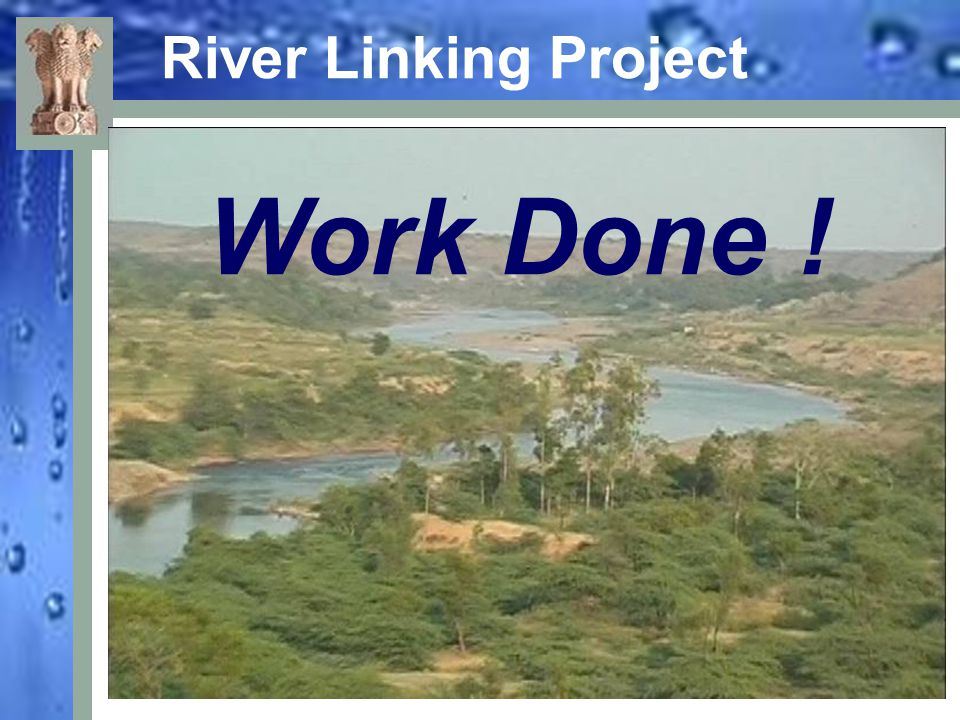 River Linking Project Work Done !