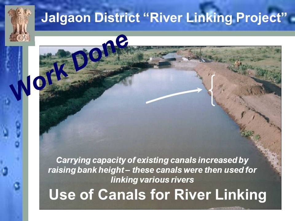 Jalgaon District River Linking Project Work Done Panzhan Left Canal was cut here to divert Girna's water in the Kanholi and then Bori river through Big Nala (water passage)
