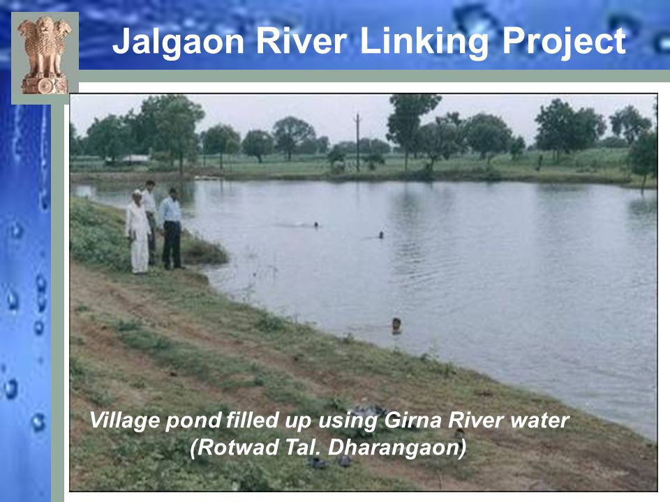 Jalgaon River Linking Project Village pond filled up using Girna River water (Rotwad Tal. Dharangaon)