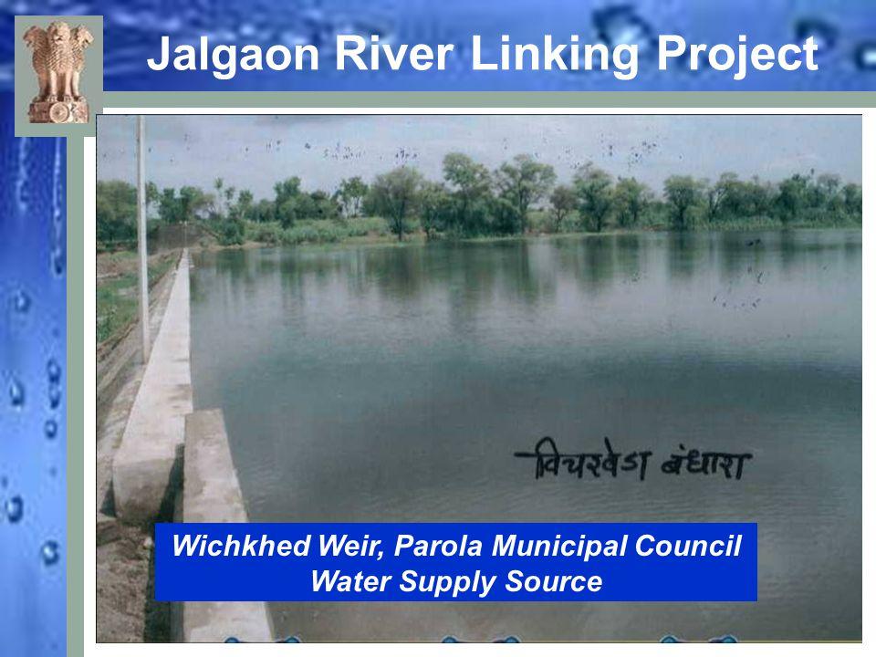 Jalgaon River Linking Project Water overflowing through Weir, Dahiwad Tal. Amalner, Dist. Jalgaon