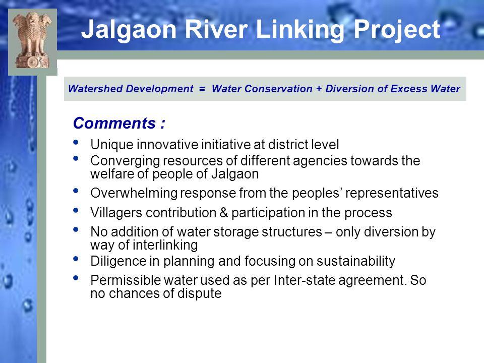 Jalgaon River Linking Project Contd..No deforestation.