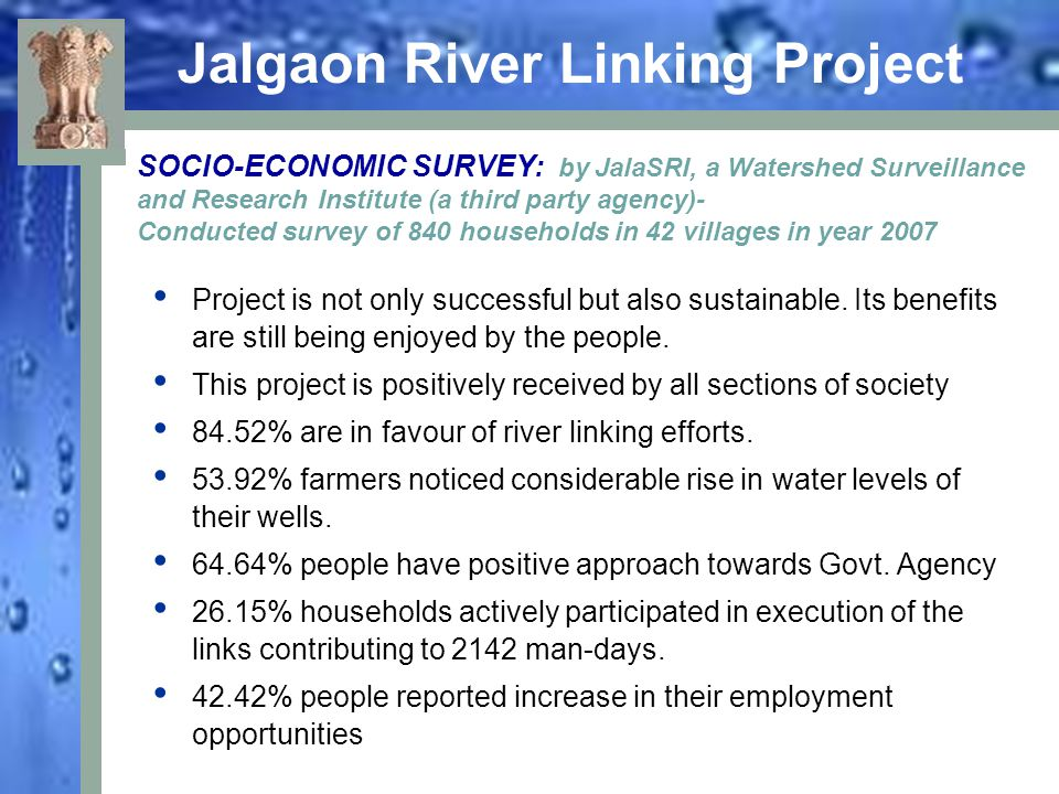 Jalgaon River linking project Thank You