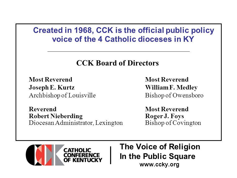 The Voice of Religion In the Public Square www.ccky.org CCK Staff 1042 Burlington Lane Frankfort, Kentucky 40601 502 875 4345 www.ccky.org cckstaff@ccky.org Jason D.