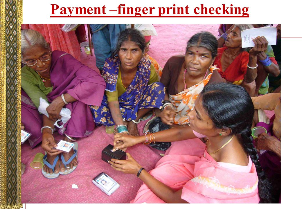 Payment –finger print checking