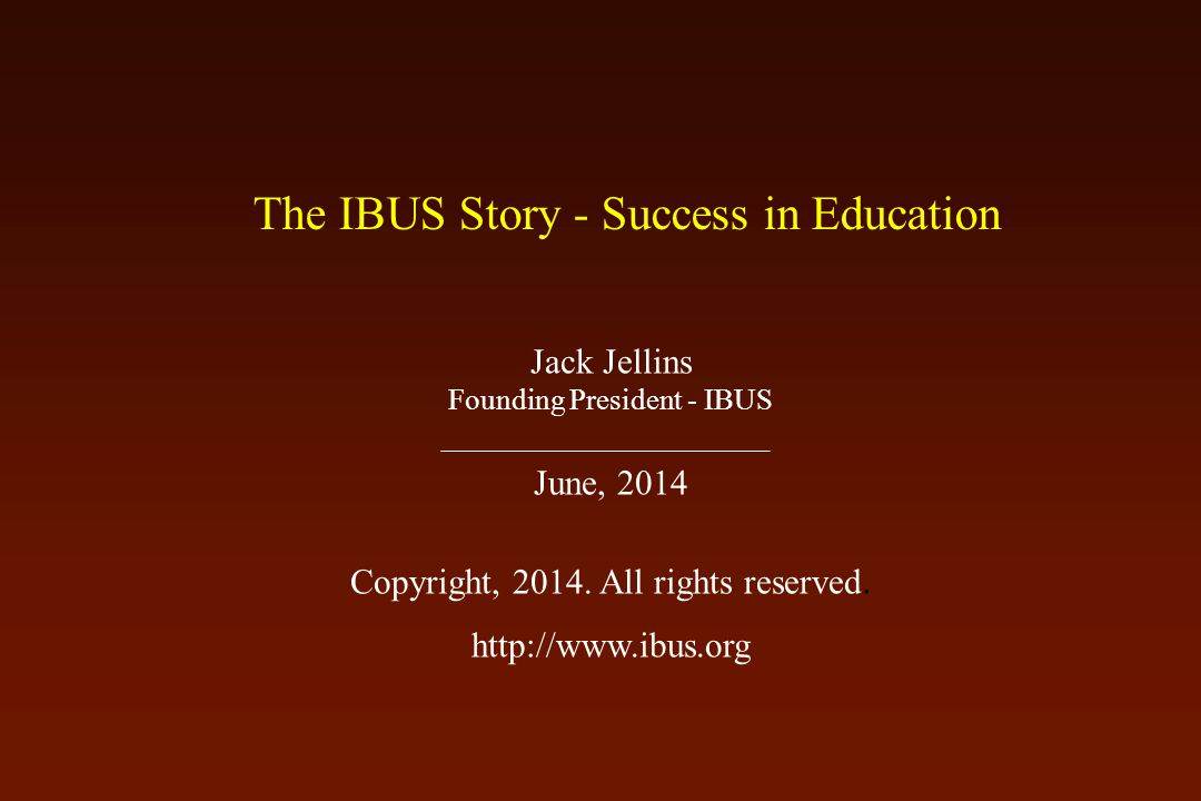 The International Breast Ultrasound School (IBUS) was formed in 1991, and IBUS is now in its 23 rd year of providing high quality breast ultrasound education