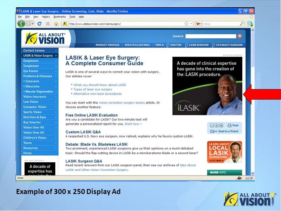 Example of 300 x 250 Display Ad
