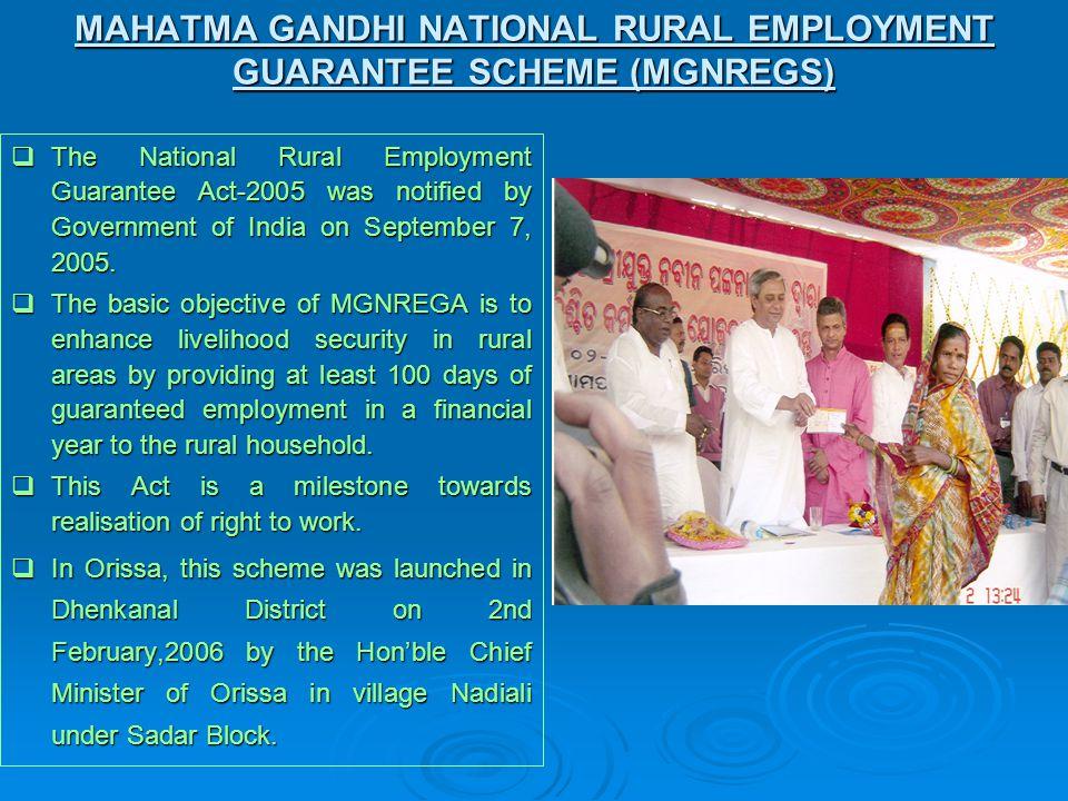 Performance under MGNREGS during 2009-10 Sl.No.