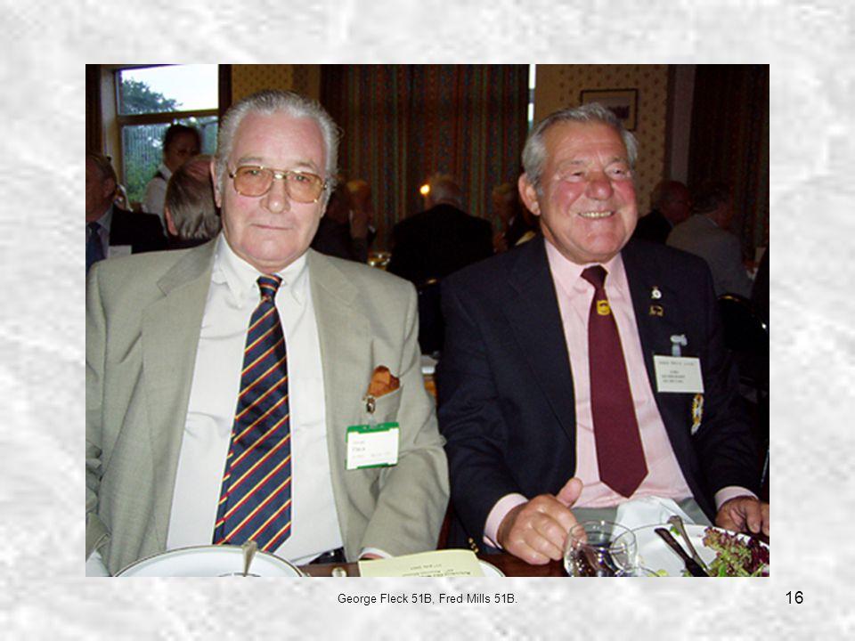 16 George Fleck 51B, Fred Mills 51B.