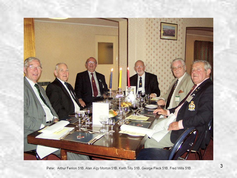 3 Peter, Arthur Fenlon 51B, Alan Algy Morton 51B, Keith Tilly 51B, George Fleck 51B, Fred Mills 51B.