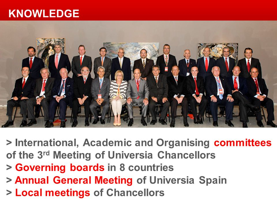 > International, Academic and Organising committees of the 3 rd Meeting of Universia Chancellors > Governing boards in 8 countries > Annual General Me