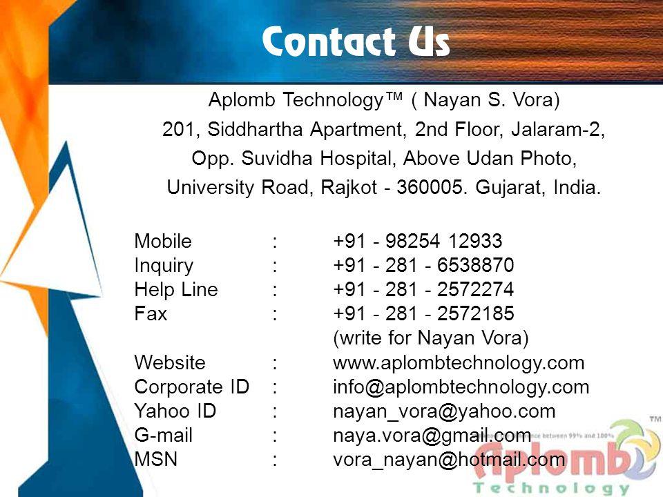 Contact Us Aplomb Technology™ ( Nayan S.