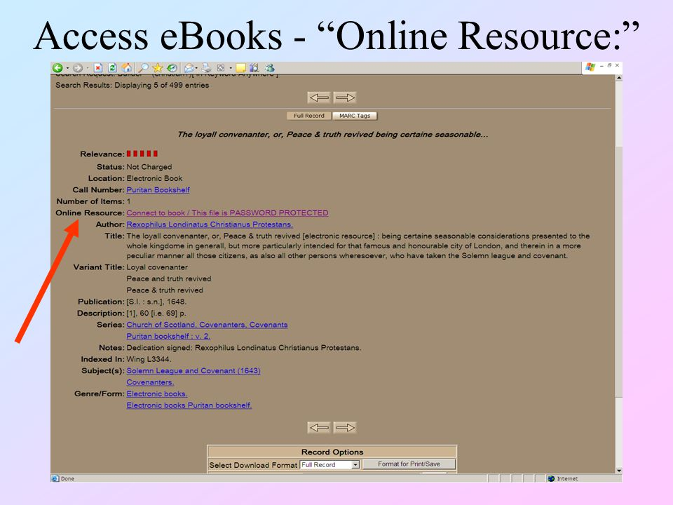 Access eBooks - Online Resource: