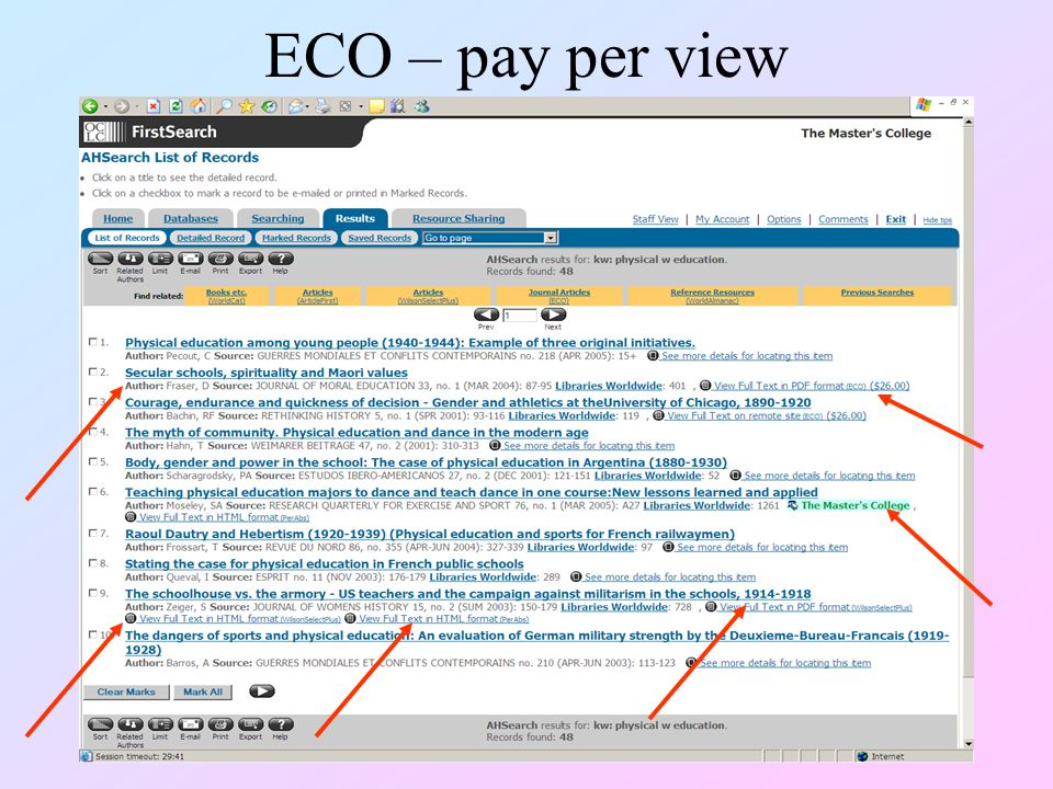 ECO – pay per view