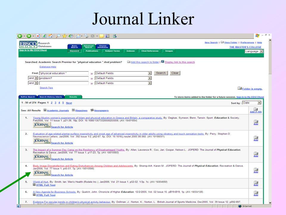 Journal Linker