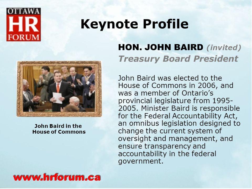 www.hrforum.ca Keynote Profile HON.