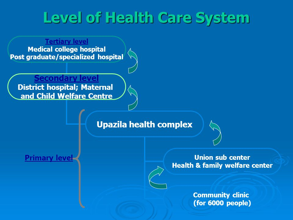 Level of Health Care System Primary level