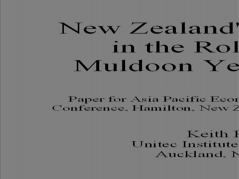 End of Muldoon Era Muldoon out 1984; Rowling out 1982 – Muldoon s approach did not fit the global paradigm shift 1984-90 Labour Government approach – shift from equitarian to neoliberal policy principles included rapid finance and state sector liberalisation included rapid finance and state sector liberalisation – surcharge on high incomes retained for 2 further years – top two rates removed from scale in October 1986 exchanged for a comprehensive 10% GST exchanged for a comprehensive 10% GST – goods and services tax – top rate cut to 33% in 1988, after 1987 financial crisis absence of zero-tax income zone entrenched – Labour Party in Jan 2014 abandoned resurrection policy