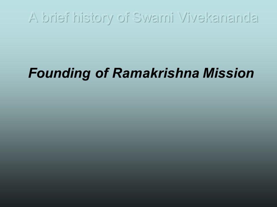 Founding of Ramakrishna Mission