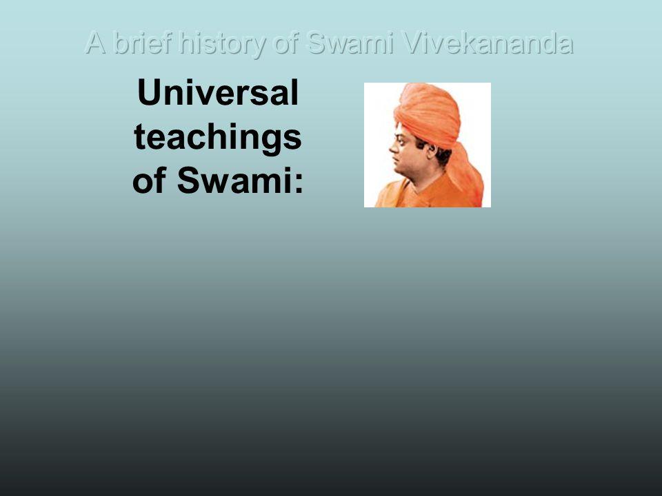 Universal teachings of Swami: