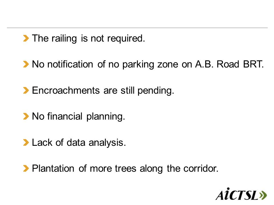 The railing is not required. No notification of no parking zone on A.B.