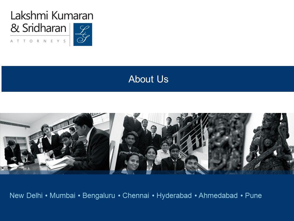 © COPYRIGHT 2011, LAKSHMI KUMARAN & SRIDHARAN New Delhi Mumbai Bengaluru Chennai Hyderabad Ahmedabad Pune About Us