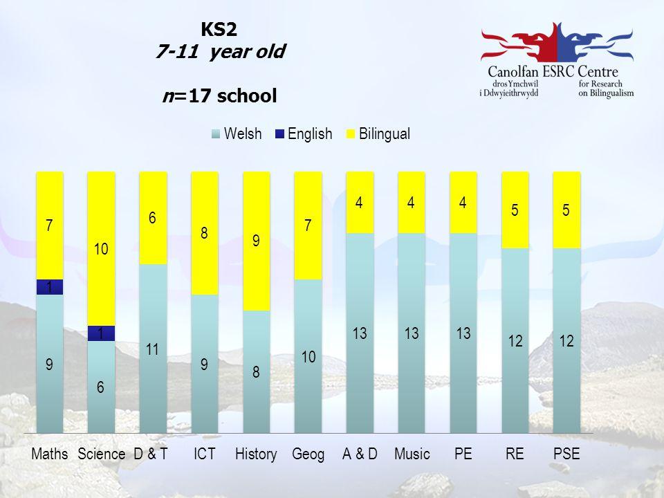 KS2 7-11 year old n=17 school