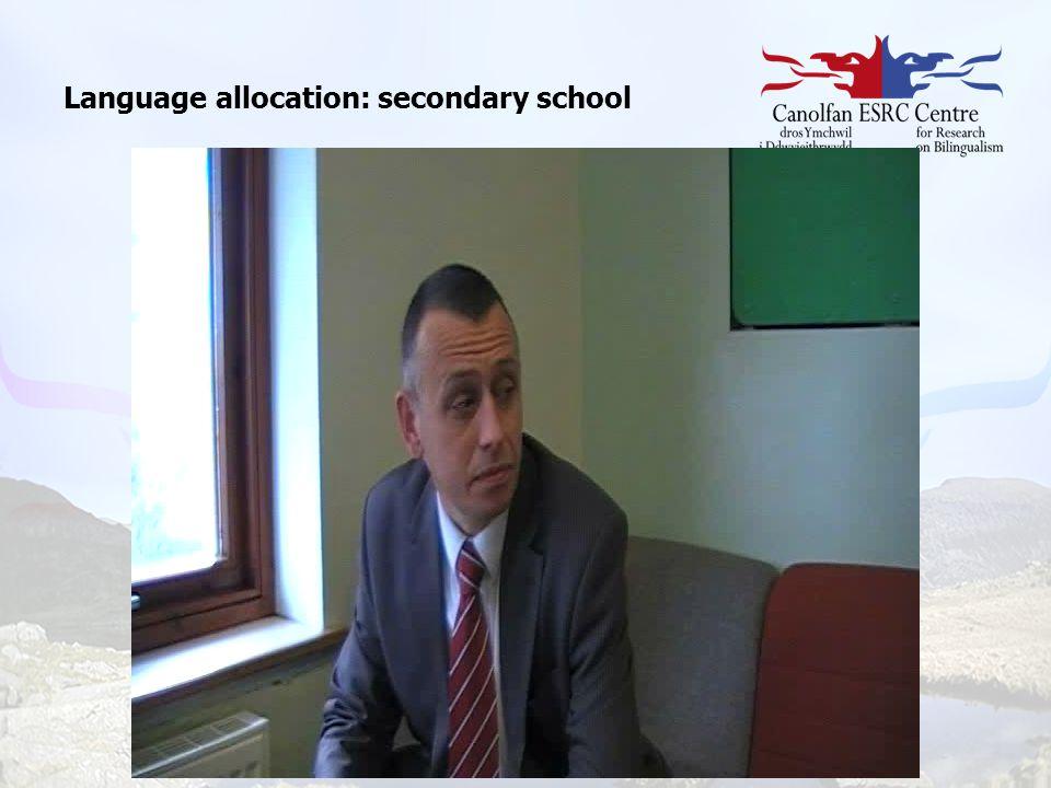 Language allocation: secondary school