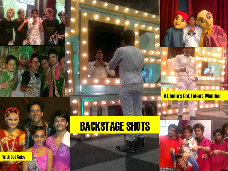 BACKSTAGE SHOTS With Bad Salsa At India's Got Talent- Mumbai