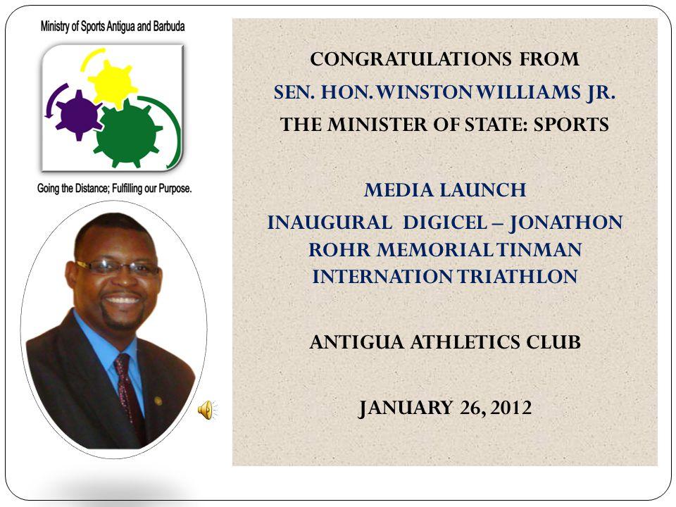 CONGRATULATIONS FROM SEN. HON. WINSTON WILLIAMS JR.