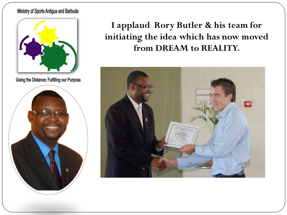 I applaud Rory Butler & his team for initiating the idea which has now moved from DREAM to REALITY.
