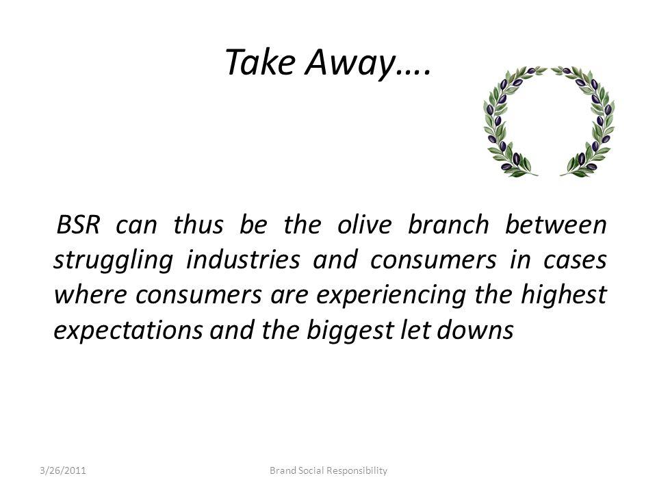 Take Away….