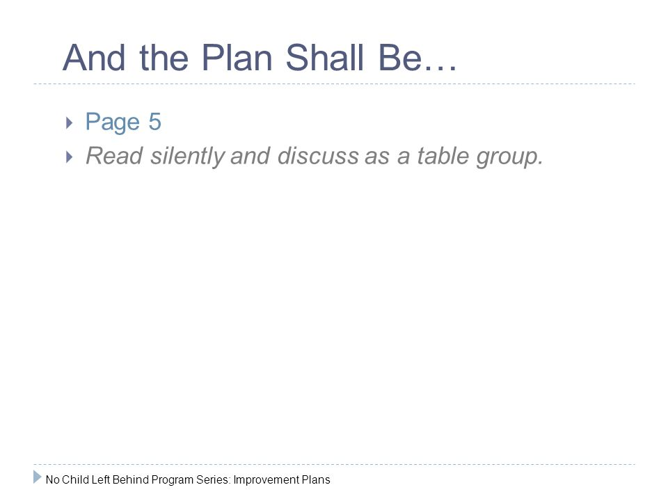  Page 5  Read silently and discuss as a table group.