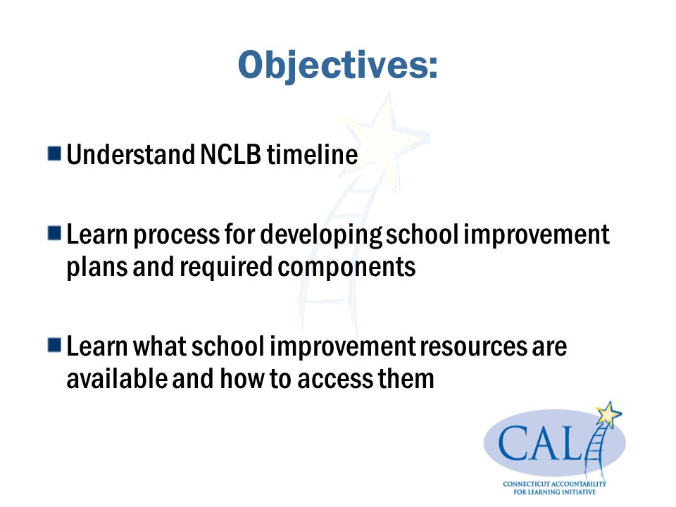 School Improvement Planning Q: Who should complete a school improvement plan.