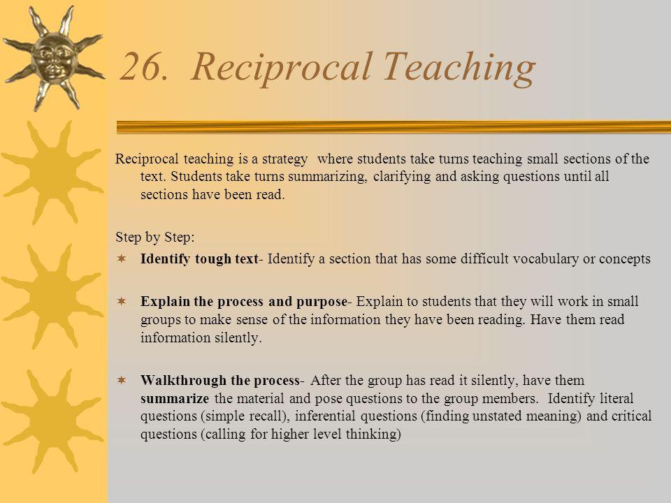 Reciprocal Teaching….