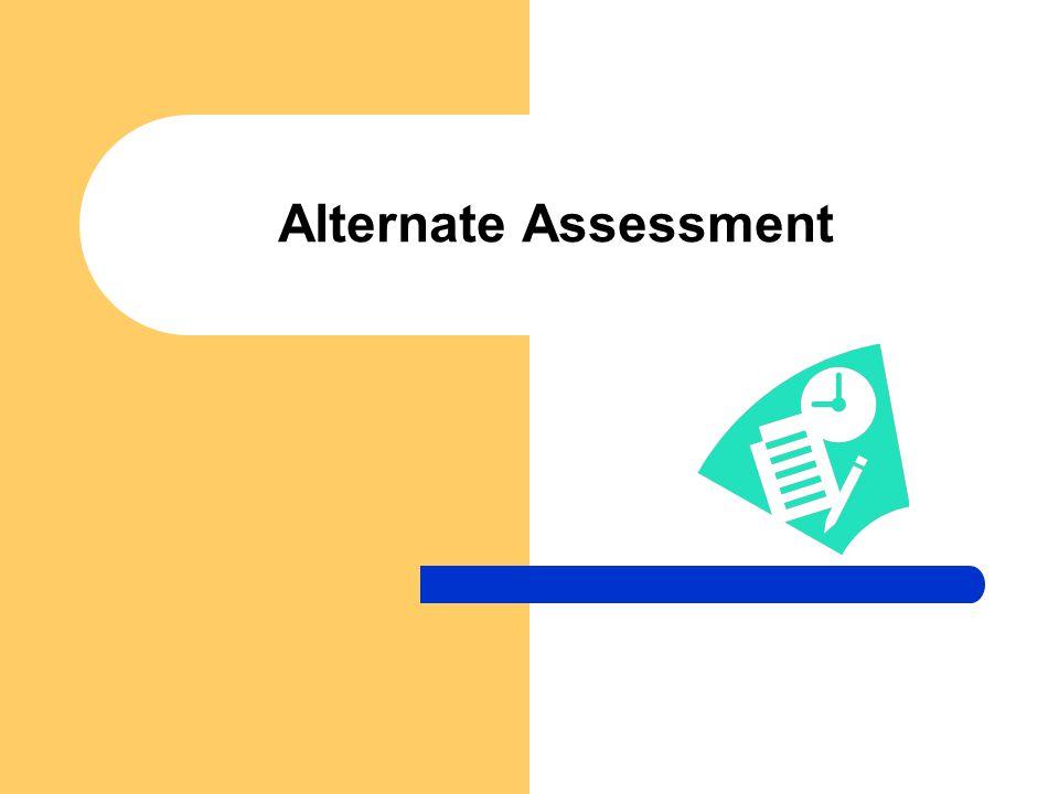 Alternate Assessment