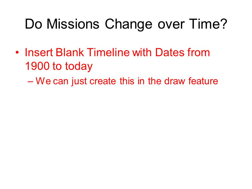 Do Missions Change over Time.