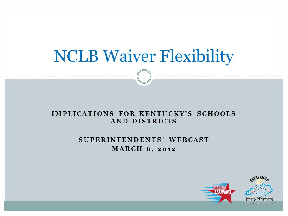 NCLB Waiver Flexibility Questions? 22