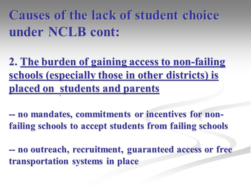 Expanding NCLB through interdistrict choice: What we can learn from the two most prevalent interdistrict choice policies: 1.