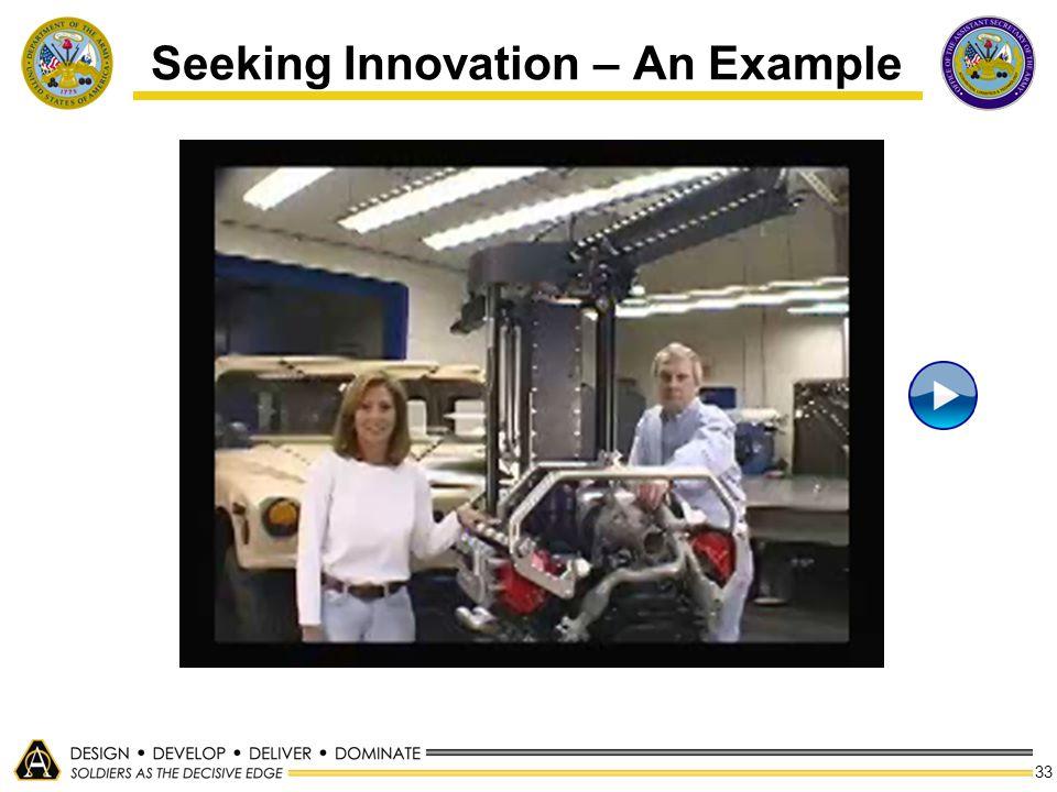 33 Seeking Innovation – An Example