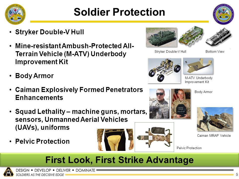 5 Soldier Protection Stryker Double-V Hull Mine-resistant Ambush-Protected All- Terrain Vehicle (M-ATV) Underbody Improvement Kit Body Armor Caiman Ex