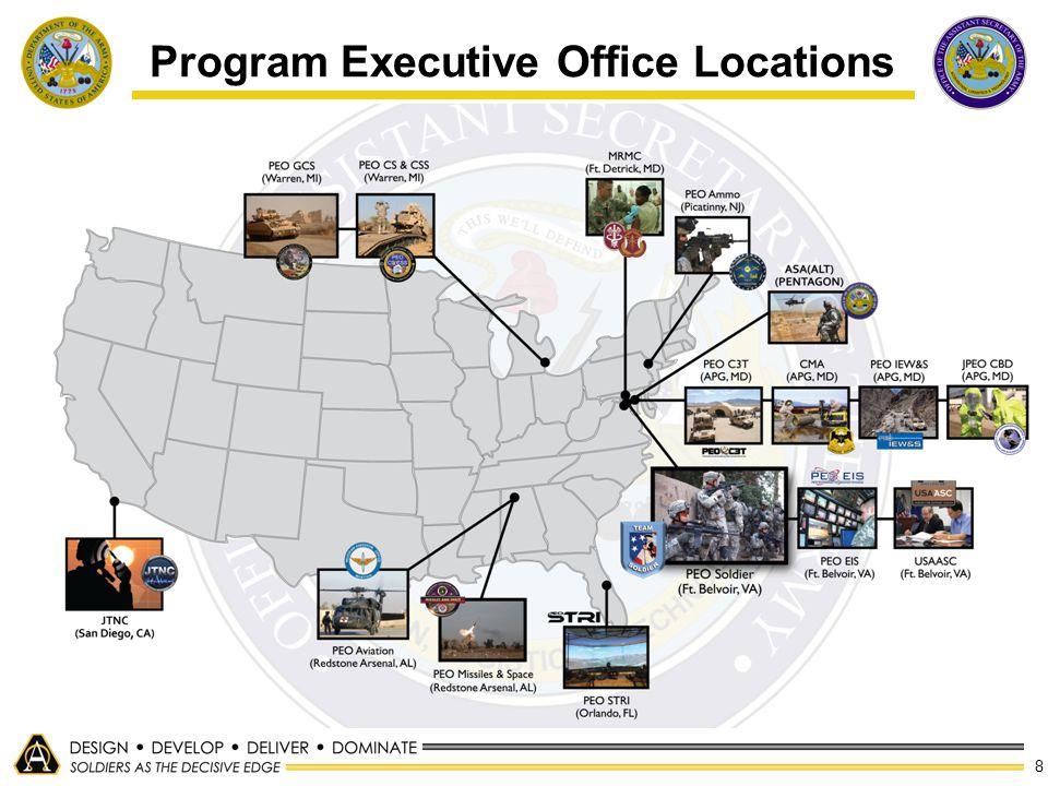 8 Program Executive Office Locations
