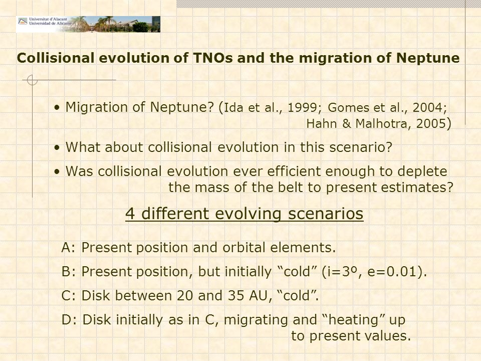 Migration of Neptune.