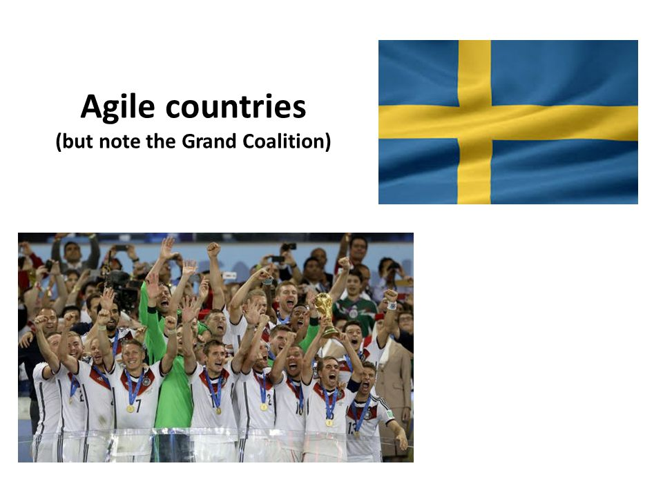 Agile countries (but note the Grand Coalition)
