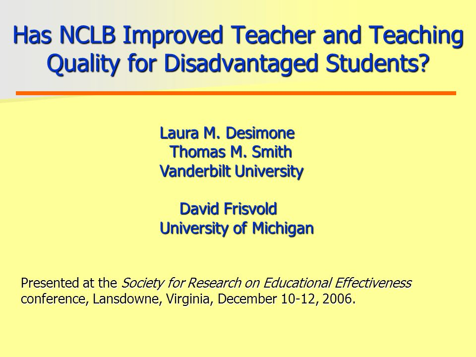 Cross-sectional Relationship Between Policy and Teacher/Teaching Quality in High-Poverty Schools
