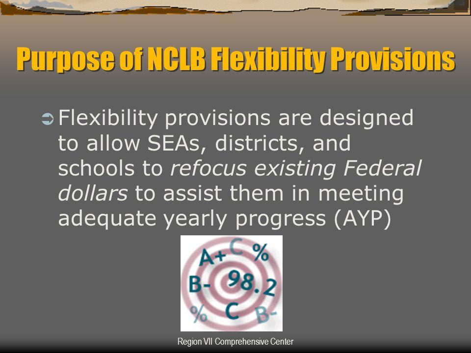Region VII Comprehensive Center General Purposes of REAP-Flex and SRSA Grants  Address unique needs of rural school districts, e.g.