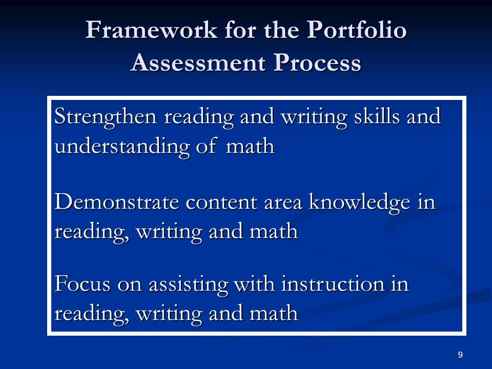 10 Basic Elements of the Portfolio Assessment  District Review Committee  Qualified Colleague