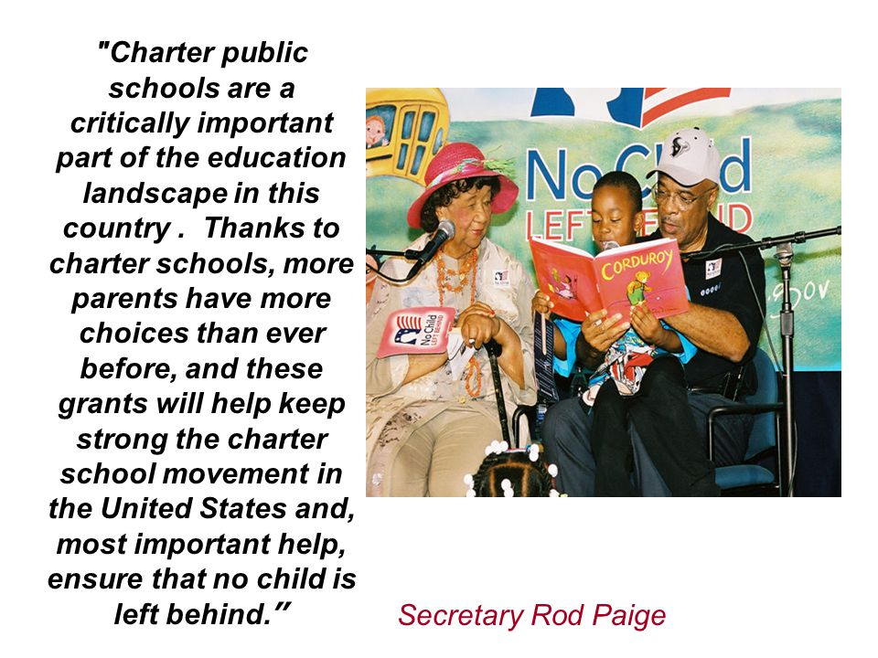 Charter public schools are a critically important part of the education landscape in this country.